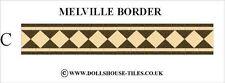 DOLLS HOUSE MINIATURES,DOLLS HOUSE TILES &.FLOORING. MELVILLE ( C ) BORDER PACK