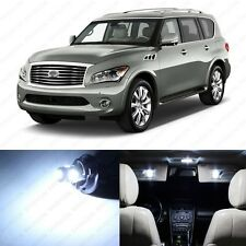 11 x Xenon White LED Interior Light Package For 2011 - 2013 Infiniti QX56