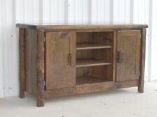 Rustic Log TV stand entertainment center finished bed