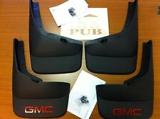 """2007-2013 GMC Sierra w/ 6' 6"""" or 8' bed 4pc Front & Rear Molded Mud Flaps OEM"""