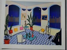 FANCH LEDAN INTERIOR WITH PRIMITIVE ART LE SERIGRAPH SIGNED/# WITH COA #422/495