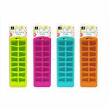 Ice Cube Tray. Pack of 3 Quality Colourful Mould Tray Up to 16 Cubes Per Tray