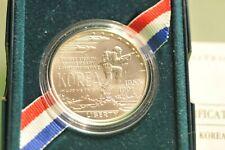 1991 D $1 KOREA KOREAN WAR COMMEMORATIVE SILVER DOLLAR *BU