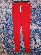 New Gap Body Pajama Pant Red Small S Modal Blend Elastic Waist Drawstring