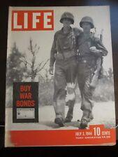 Life Magazine Buy War Bonds GI's World War 2 July 1944