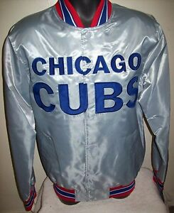 CHICAGO CUBS MLB STARTER Snap Down Jacket Sping/Summer Edition SILVER SERIES