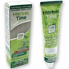 NATURAL HERBAL TIME HENNA COLORING CREAM HAIR COLORANT DYE READY TO USE 75 ML