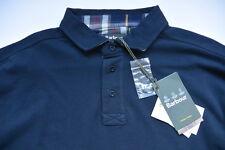 Barbour Polo Shirt XXL Hartford Contrast Classic Tartan Navy Blue Cotton NWT