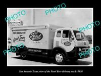 OLD LARGE HISTORIC PHOTO OF SAN ANTONIO TEXAS, THE PEARL BEER TRUCK c1950