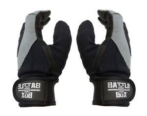 BattleBox UK™ Full Finger Leather Palm Gloves  (M size) WOD  Fitness Cross Gym