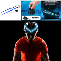 2x Motorcycle Rechargeable Helmet Light Strip EL Cold Lamp Night Driving Signal