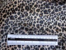 Materiale Stile Leopardo Lavorato a Maglia Tessuto Poliestere pelliccia