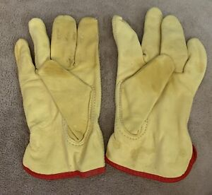 Leather Work Gloves Hardy Large