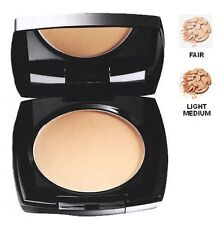 Avon Ideal Flawless Pressed Powder Compact - Shades Fair and Light Medium Boxed