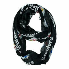 Pittsburgh Steelers Sheer Infinity Neck Scarf NEW - Black
