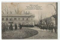 CPA MILITARIA, GUERRE 1914,1ERE VISITE DU PRESIDENT EN ALSACE,CHASSEURS ALPINS