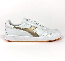Diadora B. Elite Italia Mens 13 White Gold Low Casual Shoes Sneakers Italy C5363