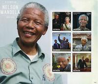 Grenada 2013 MNH Nelson Mandela in Memoriam 6v M/S I Queen Elizabeth II Stamps