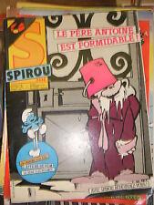 Spirou N° 2434 1984 BD Poster affiche fim Bébé Schtroumpf Mao Freddy Guidon