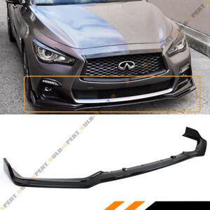 FOR 2018-2021 Infiniti Q50 Sport Glossy Black Front Bumper Lip Spoiler Splitter