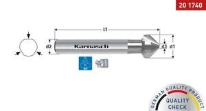 KARNASCH HSS-XE Stahl Kegelsenker DIN 335 Form C 90°, 3-Flächenschaft