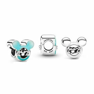 Authentic Pandora Disney 2021 Parks Mickey Mouse Charm Blue Bead 799195C01