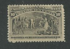 1893 US Stamp #237 Mint Hinged Fine Original Gum Catalogue Value $90