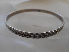 Vintage Beau Sterling Silver Woven Wheat Bangle Bracelet   RE3907