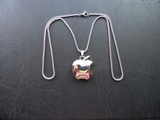 """APPLE LOGO IPHONE IPAD STAINLESS STEEL CHAIN NECKLACE """"L@@K MUST SEE"""""""