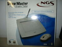 GRAPHIC TABLET - DRAW MASTER NGS 1024 LEVELS OF PRESSURE