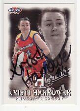 Kristi Harrower Phoenix Mercury Autographed Basketball Card