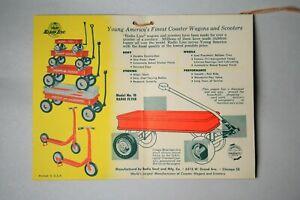 RARE 1950's Radio Flyer Wagon 18 Merchandising Assembly Instructions Paperwork