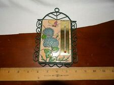 Vintage Indoor Hanging Thermometer Pretty Tile Trivet Makes A Nice Wall Accent
