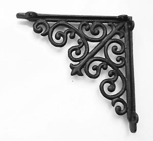 Cast Iron Ornate Shelf Bracket 20.5cm x 20.5cm in 3 colours(single bracket)