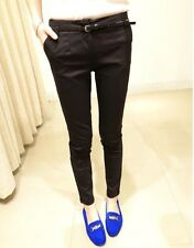 Stylish Women Lady Slim Fit Skinny Pencil Pants Formal OL Casual Long Trousers L