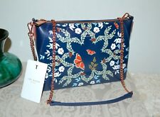 """NWT $169 TED BAKER """"Kyoto Gardens"""" Clutch Bag Crossbody Rose Gold Chain Strap"""