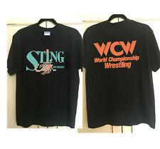 Vintage RARE WCW STING Shirt Front & back print NWA WWF WWE WCW NWO new