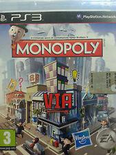 MONOPOLY PS3 COME NUOVO ITALIANO ORIGINALE EDIZIONE ITALIANA VIA STREET MONOPOLI