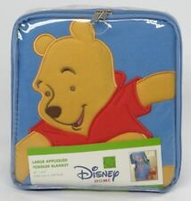 """DISNEY HOME~LARGE APPLIQUED TODDLER BLANKET~WINNIE THE POOH COLLECTION~41"""" x 61"""""""