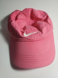 Nike Girl's Bright Pink Ball Cap Style Hat With White Nike Logo Size 4/6X EUC