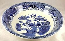 Extra Large Blue Willow Pattern Porcelain Ironstone Centerpiece Face Wash Bowl