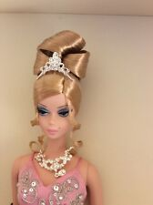 NRFB Soiree Barbie Platinum Silkstone Pink Limited Edition