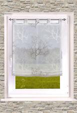 transparentes RAFFROLLO mit Schlaufen / Schlaufenrollo BAUM