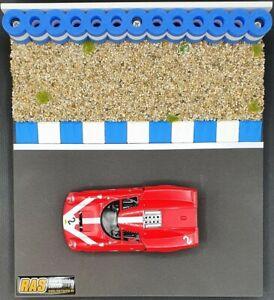 Curbs BLAU-WEISS 60 cm Randstreifen für Autorennbahnen 1:32-1:24 - NEU