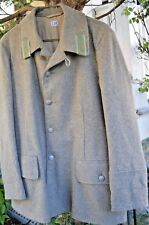 ANTIQUE 1941 European MILITARY Gray  HEAVY WOOL LINED  3/4 ARtillery COAT  Large