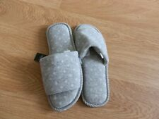 Next Size S (3-4) Grey & White Mules. New With Label