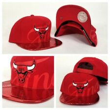 """Exclusive Mitchell & Ness NBA Red Chicago Bulls """"The Finals"""" snapback Hat Cap"""