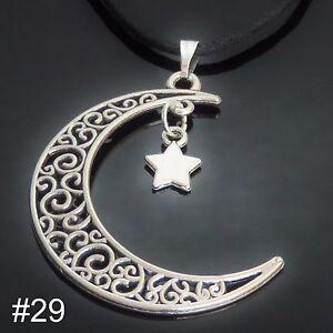 Silver Tone Pendant Necklace mens ladies womens boys girls jewellery UK SELLER