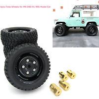 4PCS Reifen Räder Nabenfelgen Teile Set für MN D90 91 99S Upgrade Modellauto