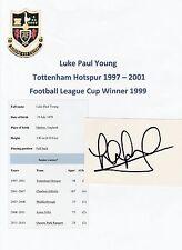 Luke jóvenes Tottenham Hotspur 1997-2001 Original Firmada A Mano cutting/card